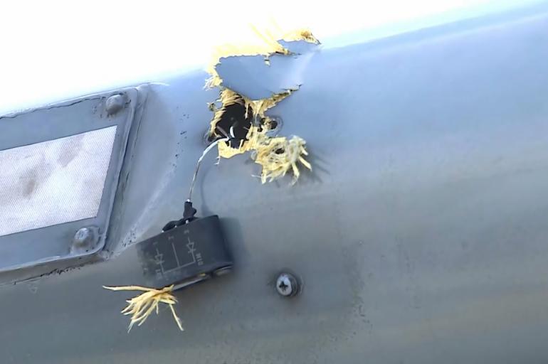 Atentado en Colombia: así quedó el helicóptero donde viajaba el presidente Iván Duque tras el ataque - El Cronista